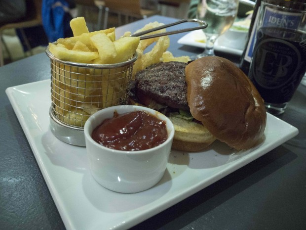 Scotland's famous burger and chips.